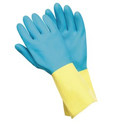 Guantes Neopreno / Latex Bicolor Talla XL (Par)