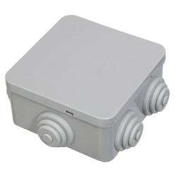 Caja Estanca Superficie Con Clip 80x80x40 mm.