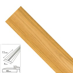 Tapajuntas Adhesivo Para Moquetas Aluminio Roble   82,0 cm.