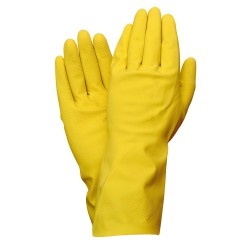 Guantes Latex 100% Basic Domesticos XL (Par)