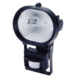 Foco Halogeno 230 W.   IP44 con lampara y sensor