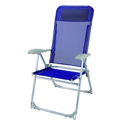 Silla Playa Aluminio Atokos 5 Posiciones Azul