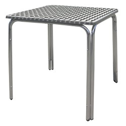 Mesa Terraza Aluminio 60x60x70 cm. Apilable