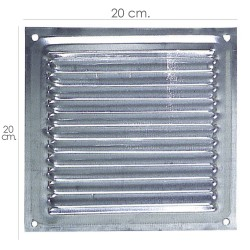 Rejilla Ventilación Atornillar  20x20 cm. Aluminio